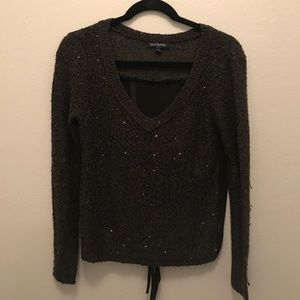 Sequin and sheer sweater